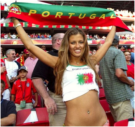 Hot World Cup fans from Portugal.