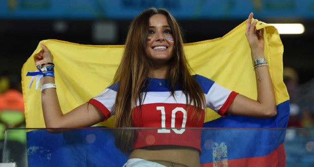 Hot World Cup fans from Columbia