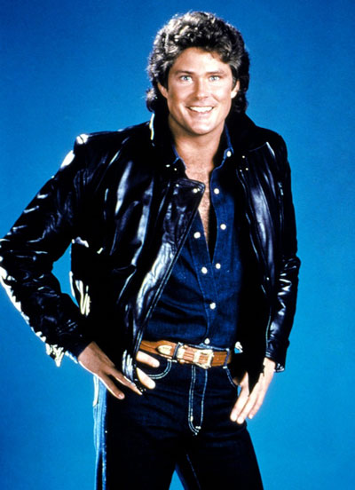 David Hasselhoff as Michael Knight in Night Rider.