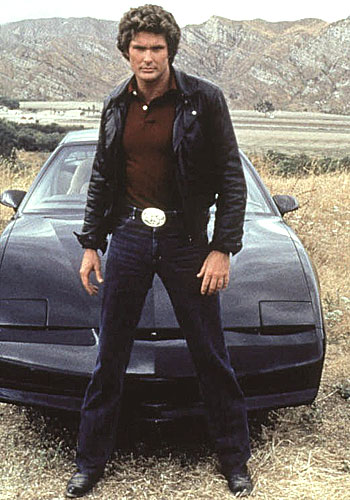 the Hoff and KIT in Knight Rider.