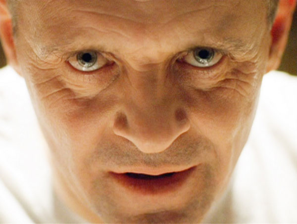 A close up of Hannibal Lecter. Hannibal Lecter is one of the iconic movie villains that scared you silly.