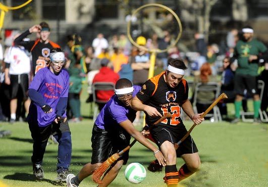 Muggle Quidditch was bound to be part of the unusual sports list