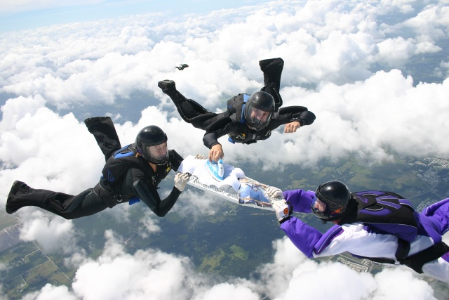 Unusual Sports? Yep, extreme ironing is one.