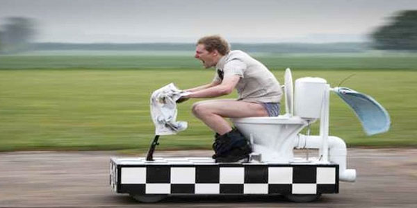 The world's fastest toilet.
