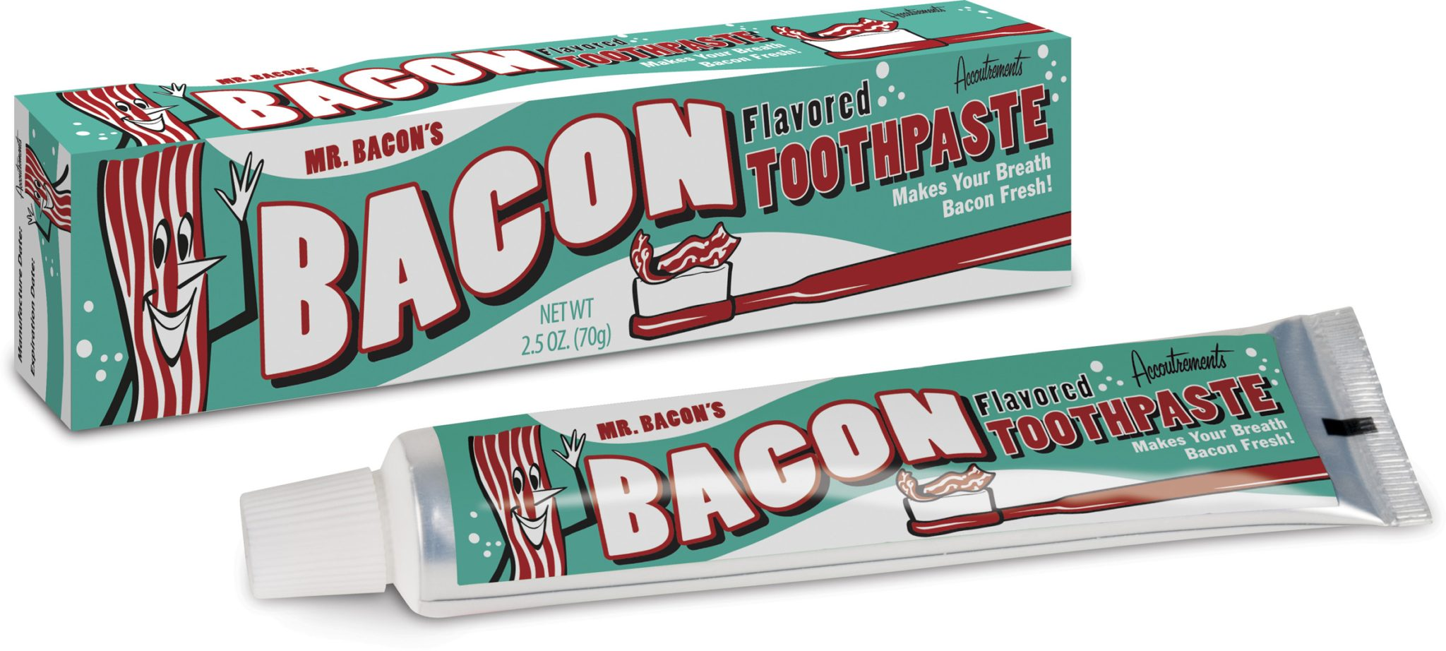 weird toothpastes-bacon flavored