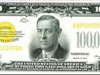 $100,000 US dollar bill