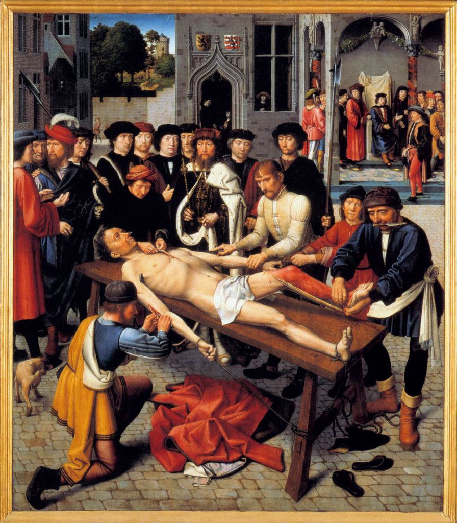 Gerard David's The Judgement of Cambyses is among the most disturbing pieces of art.