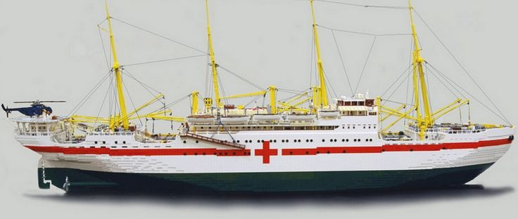 100,000 pieces of Lego to make the MS Jutlandia replica