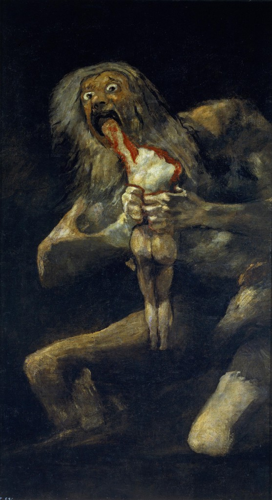 Saturn Devouring his son is one of the most disturbing pieces of art.