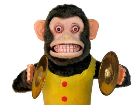 The Musical Jolly Chimp toy - 10 Creepiest Toys Ever Created
