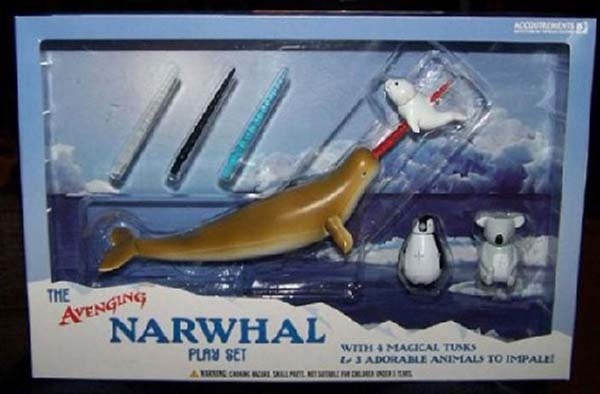 The Avenging Narwhal play set - 10 Creepiest Toys Ever Created
