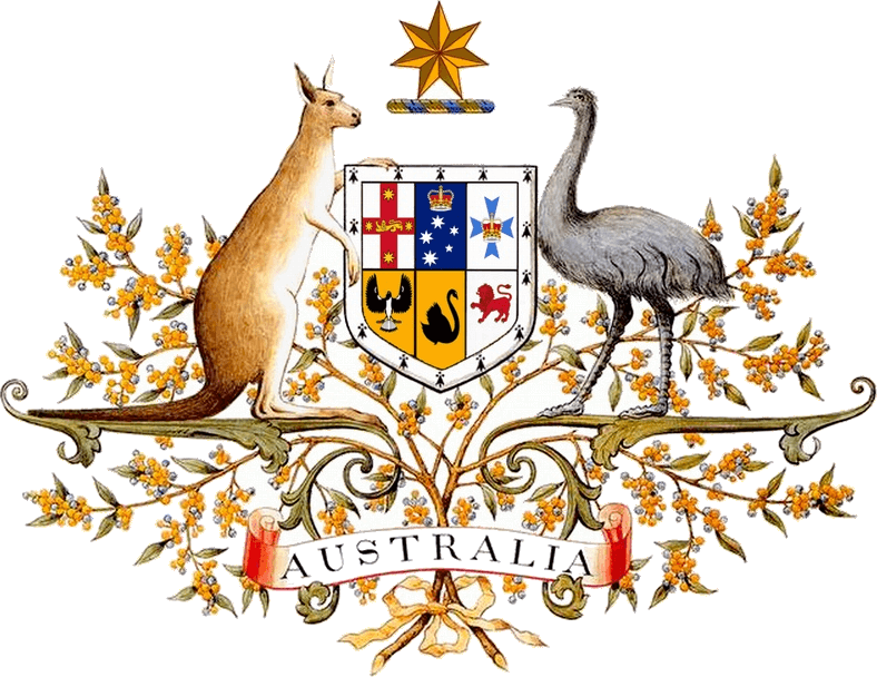 A unusual fact about Australia and the coat of arms.