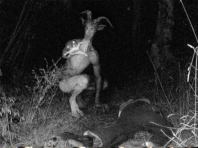 A Photo Of The Goat Man - 10 Eerie Photos That Will Send Shivers Down Your Spine