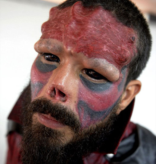 Real life Red Skull, Henry Damon - 10 Most Insane Body Modifications You Just Have To See