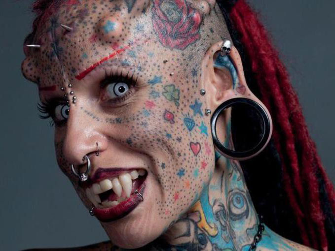 The Vampire Lady, Maria Cristerna - 10 Most Insane Body Modifications You Just Have To See