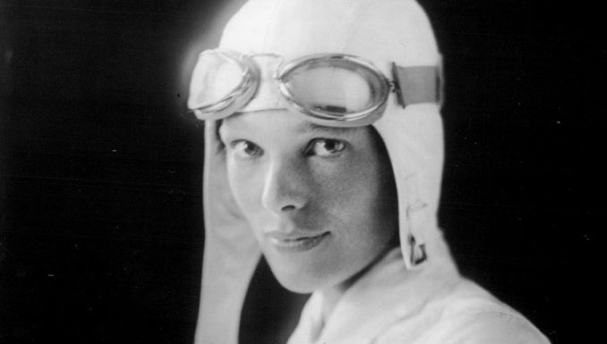 World famous female pilot Amelia Earhart - 10 Famous People That Mysteriously Vanished