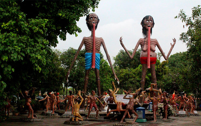 Wang Saen Suk Hell Garden - 10 Creepiest Statues Ever Created
