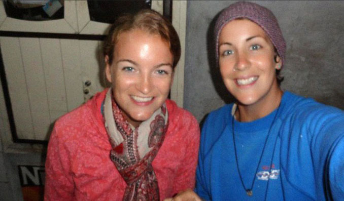 Maggie Goldenberger and a friend - 10 REAL People Behind Popular Internet Memes