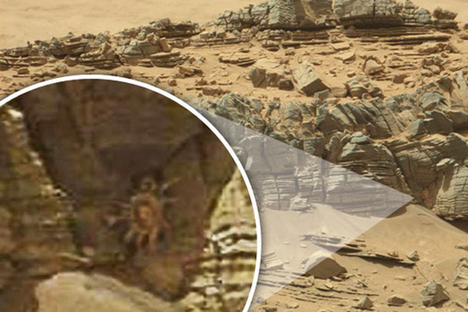 A mysterious creature spotted on Mars - 10 Mysterious Photos Taken In Space