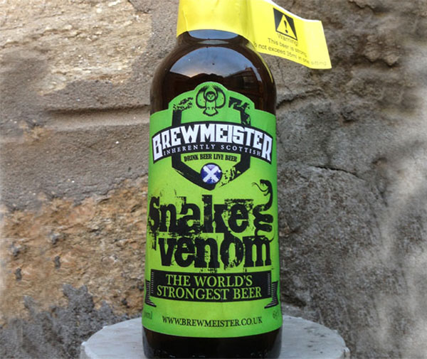 This is Snake Venom, it is the world's strongest beer. Such an awesome beer fact.