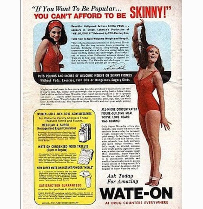 Advertisement for weight gain pills - 10 Shocking Vintage Ads You Have To See To Believe