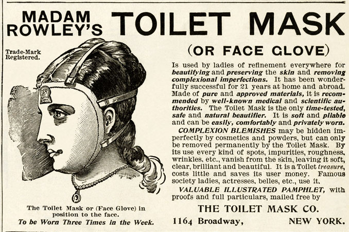 Toilet Mask (Face Glove) advertisement - 10 Shocking Vintage Ads You Have To See To Believe