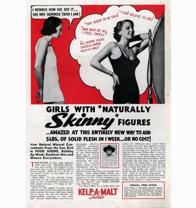 Weight gain supplement advertisement - 10 Shocking Vintage Ads You Have To See To Believe
