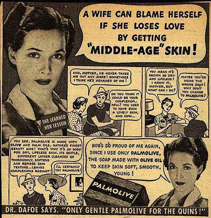 Sexist Palmolive advertisement - 10 Shocking Vintage Ads You Have To See To Believe