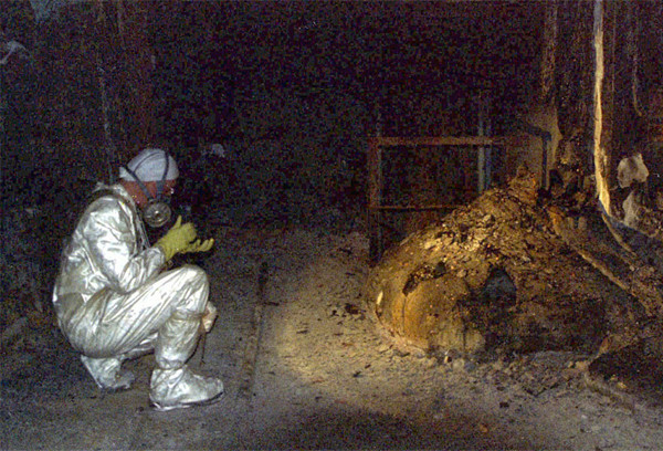 This real photo with a creepy backstory is the elephant's foot in Chernobyl