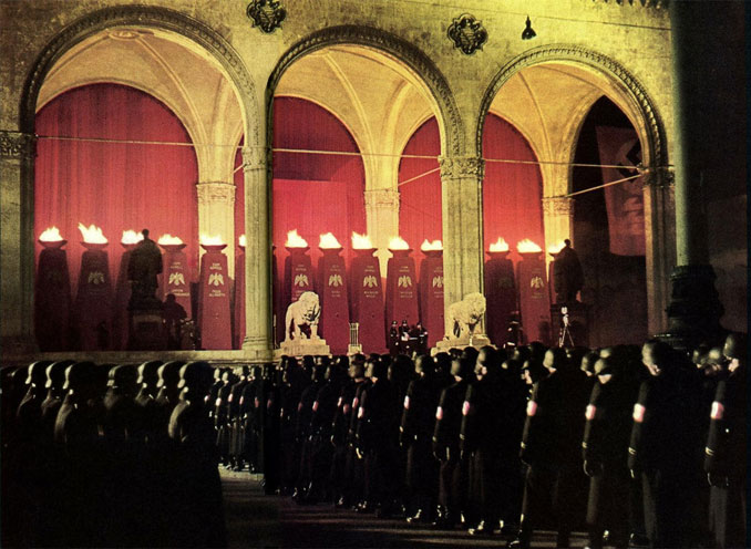 SS ceremony outside the Field Marshals' Hall in Munich Germany - 10 REAL Photos That Are Hiding A Dark Secret