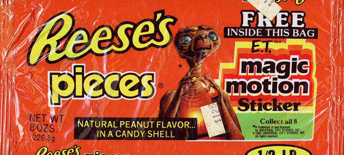 E.T. the Extra Terrestrial promotional pack of Reese's Pieces - 10 Worst Business Decisions Ever Made
