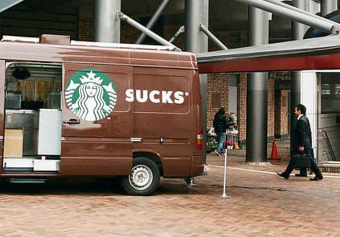 Starbucks van with its door opened - 10 Worst Business Decisions Ever Made