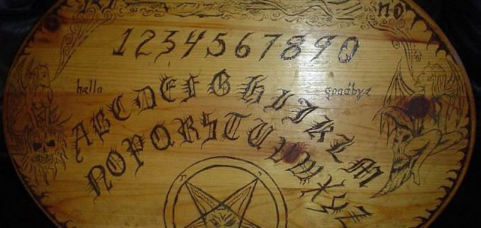 A construction worker discovered a 100 year old Ouija Board in the walls of an old house.