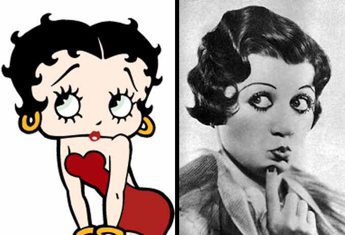 Betty Boop and Helen Kane.
