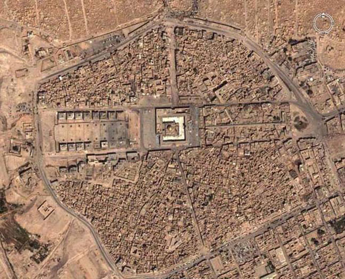 An aerial view of Wadi us-Salaam cemetery seen on Google Earth.