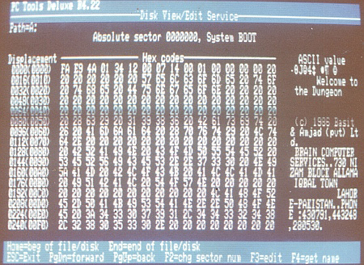 This is the world's first computer virus.