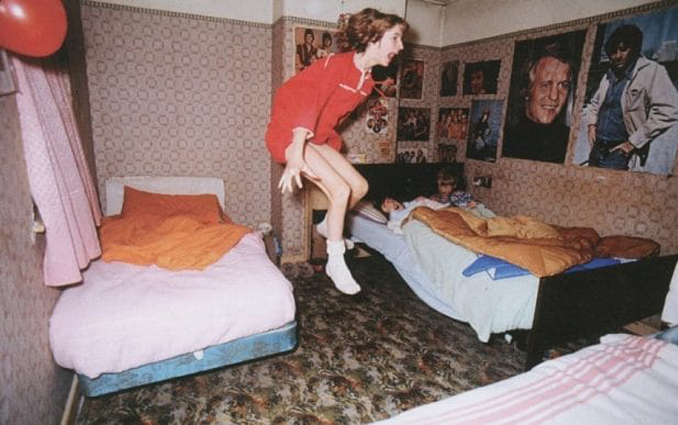 A photo of Janet Hodgson taken in 1977 during the Enfield Haunting.