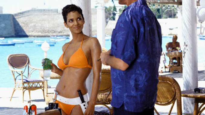 A famous scene that nearly killed that actor is in Die Another Day with Halle Berry.