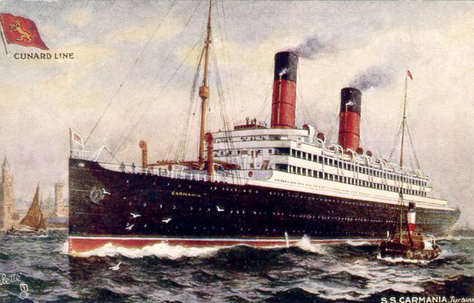 The RMS Carmania.