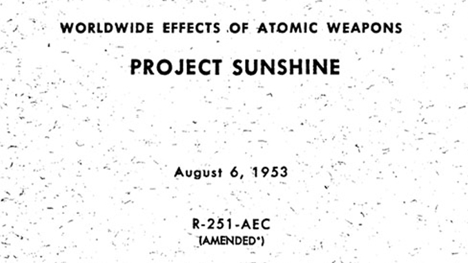 Project Sunshine is a conspiracy theory that turned out to be real