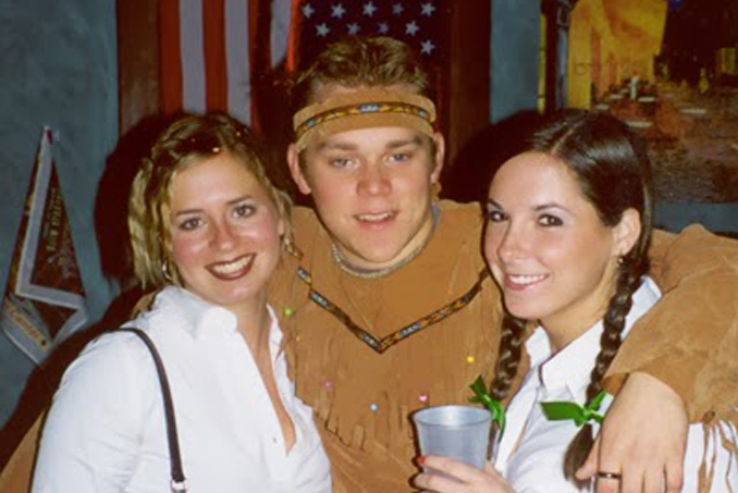 Christopher Jenkins with friends.