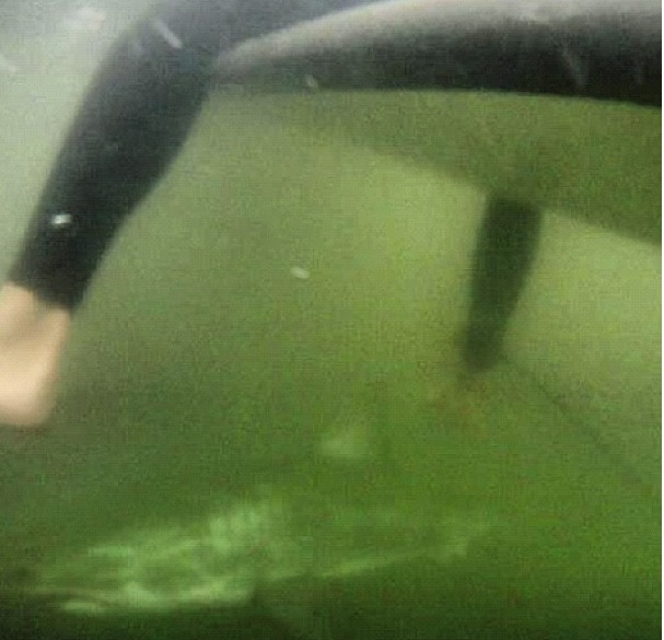 This scary moment caught on GoPro was captured by a surfer.