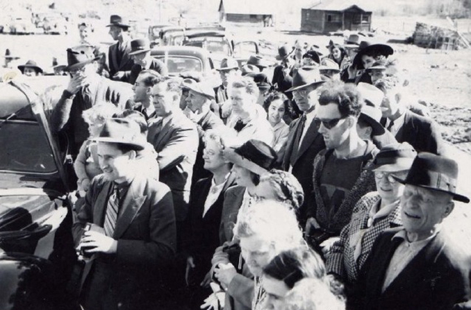 Time traveler at the South Fork Bridge reopening in Canada in the early 1940's - 10 REAL Cases Of Time Travel That Cannot Be Explained