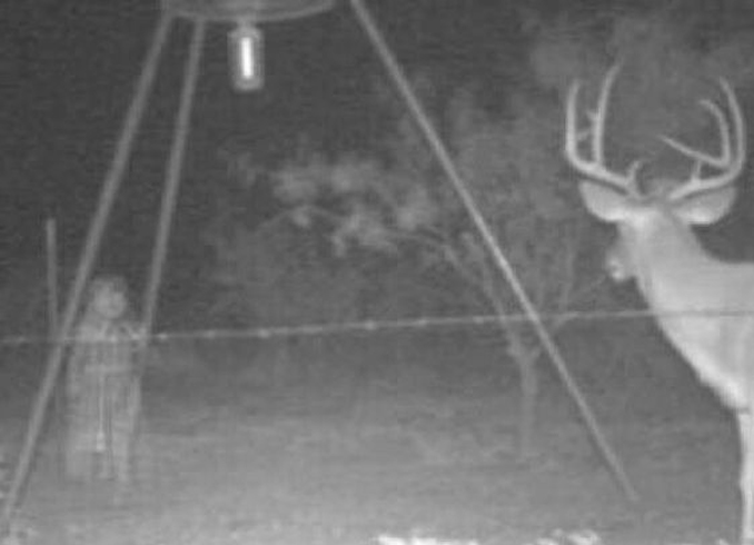 Creepy girl caught on trail camera - 10 Trail Camera Photos That Cannot Be Explained