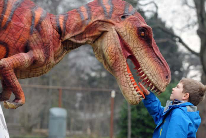 A dinosaur is definitely one of the Strangest Things Found in Shipping Containers