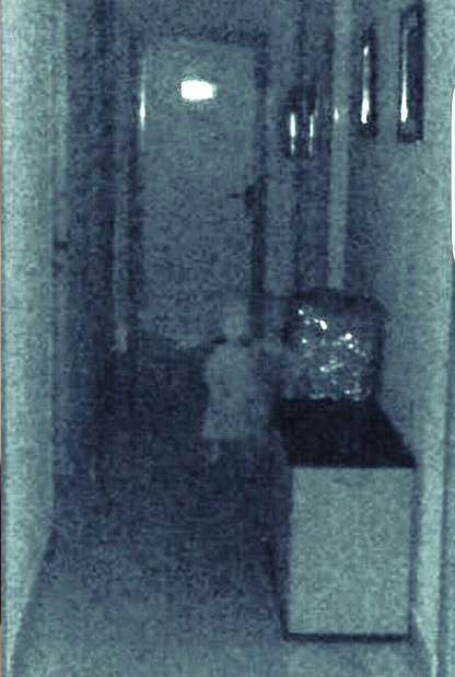 Ghost girl in hallway of town hall in Vegas del Genil, Spain - 10 Photos of Ghost Children That Have Everyone Scared