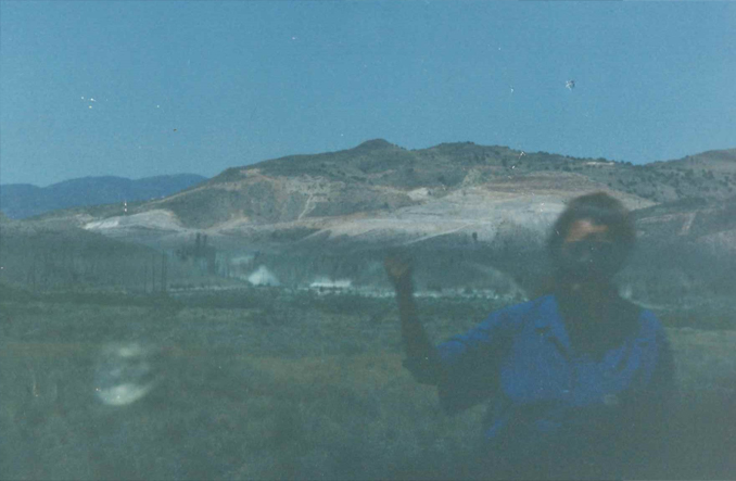 Photo of New Mexico wild fires shows a ghostly woman in the foreground