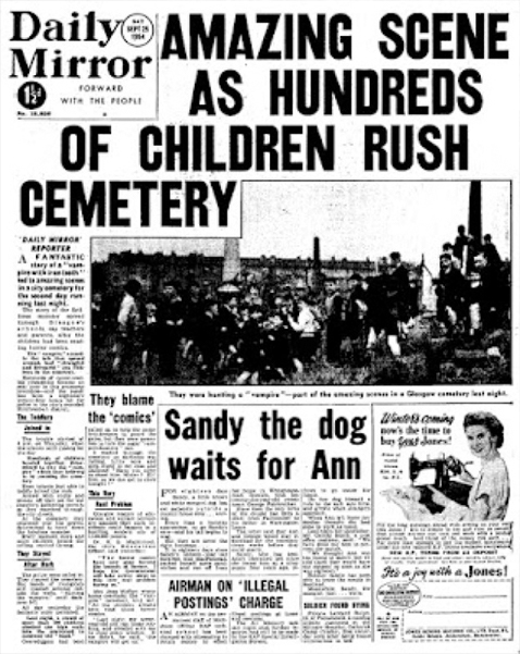 The Gorbals vampire newspaper article - 5 REAL Vampires That Actually Existed