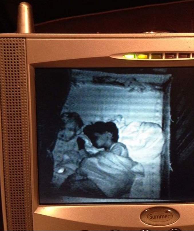 Ghost seen on baby monitor - 10 Photos of Ghost Children That Have Everyone Scared